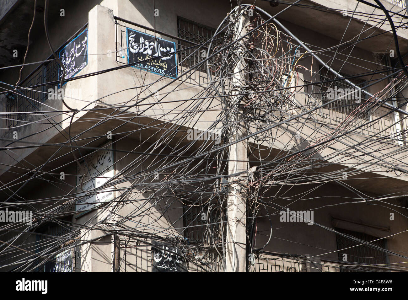 Electricity Wires Mess In Stock Photos & Electricity Wires Mess In ...