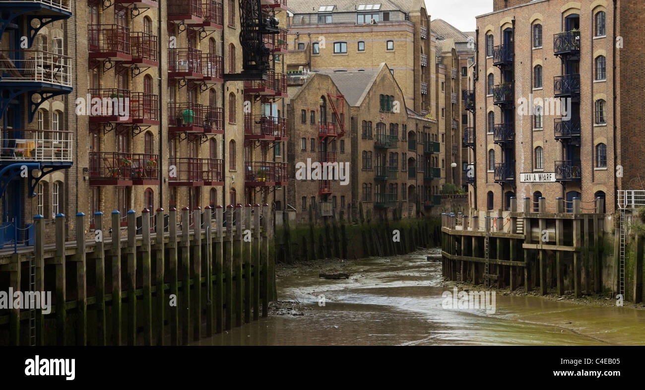 Warehouse apartments at St Saviors Dock Shad Thames London UK