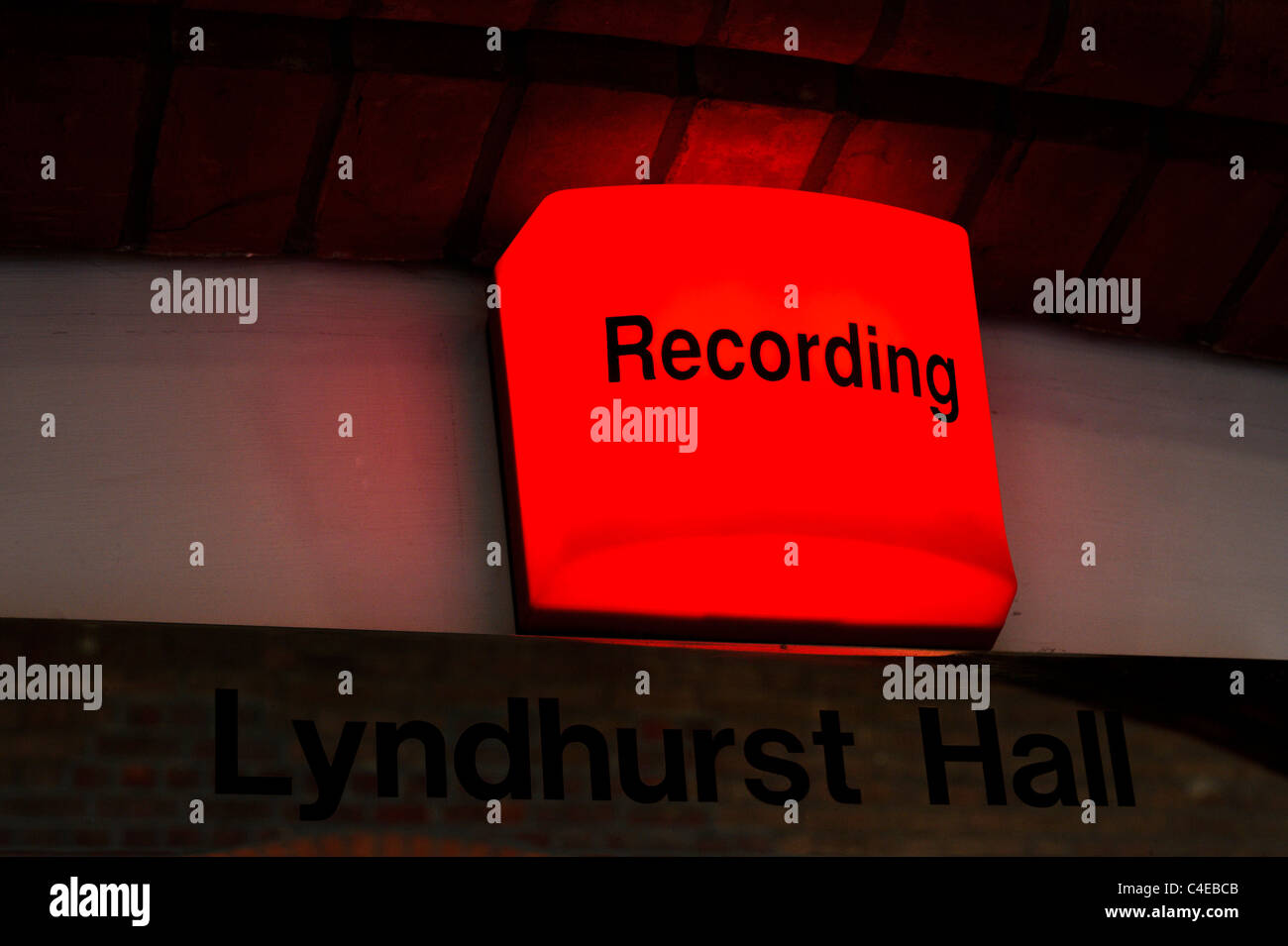 A Quot Recording In Progress Quot Red Light Lit About The Door