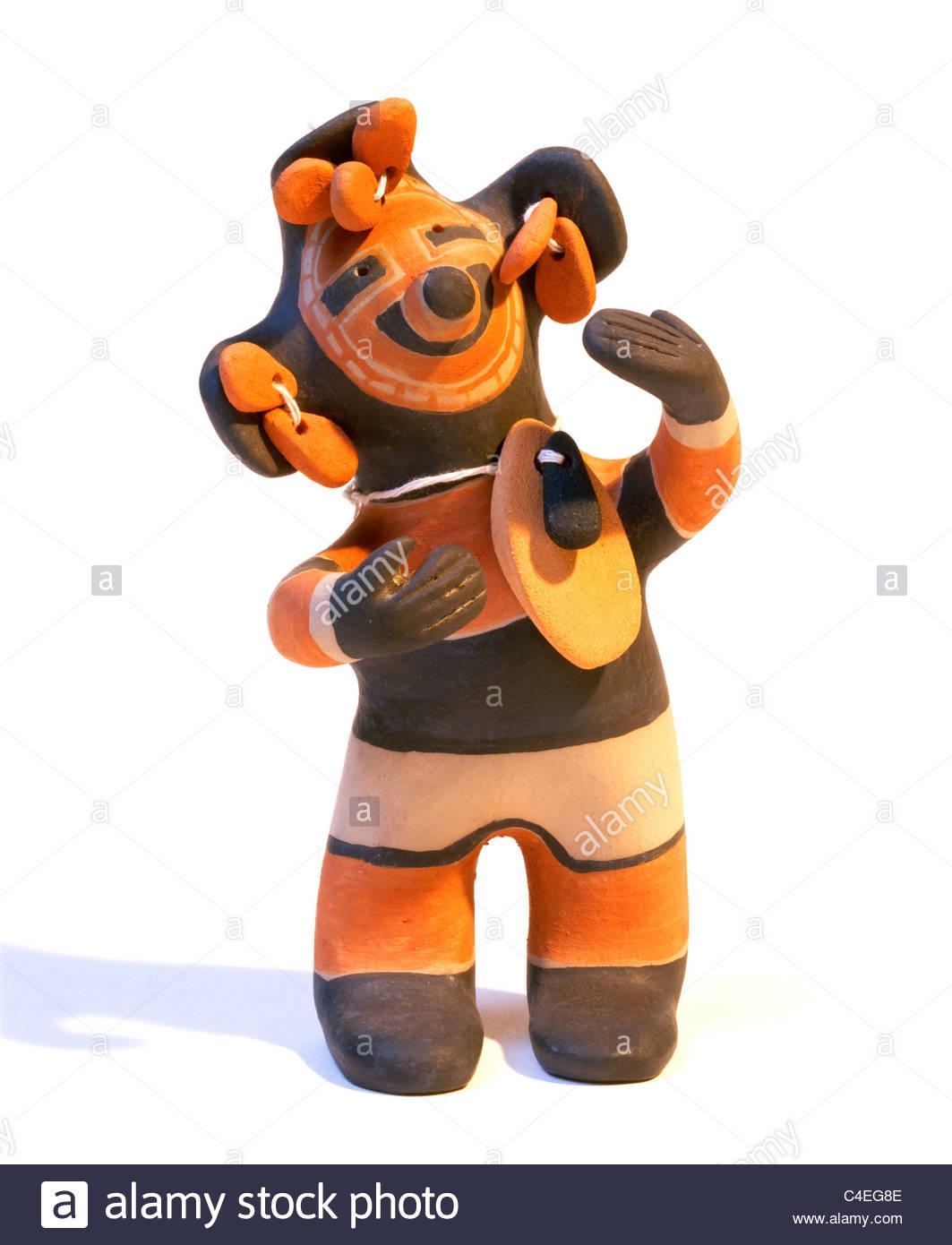 cochiti pueblo indian clay figurine made by