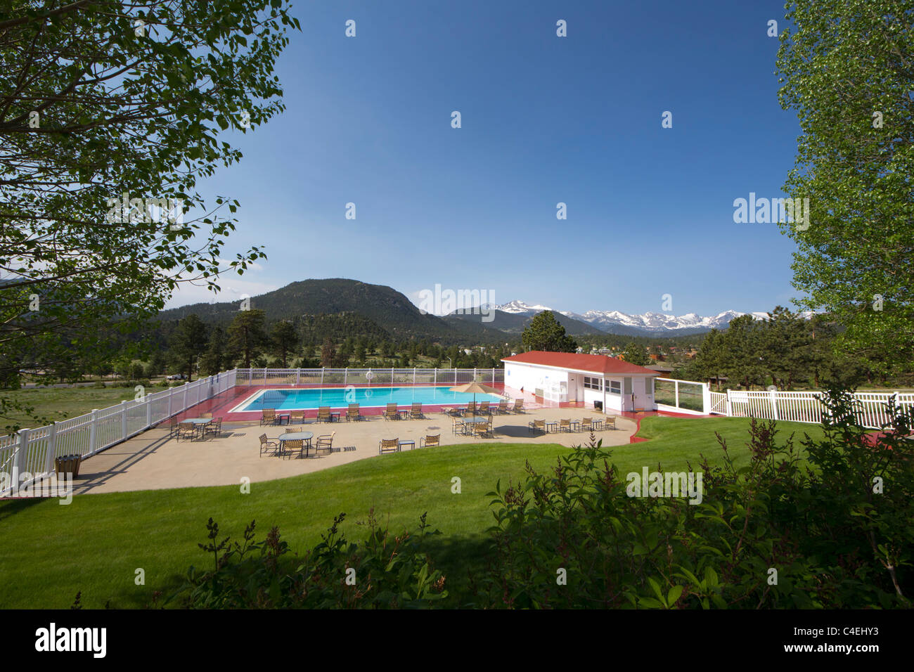 The Swimming Pool At The Stanley Hotel In Estes Park Colorado Stock Photo Royalty Free Image