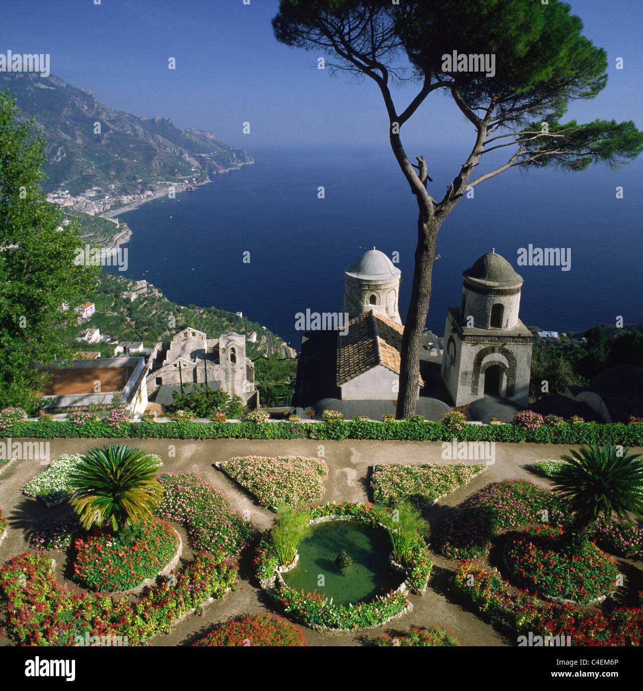 Italy Amalfi Coast View From Ravello Villa Rufolo