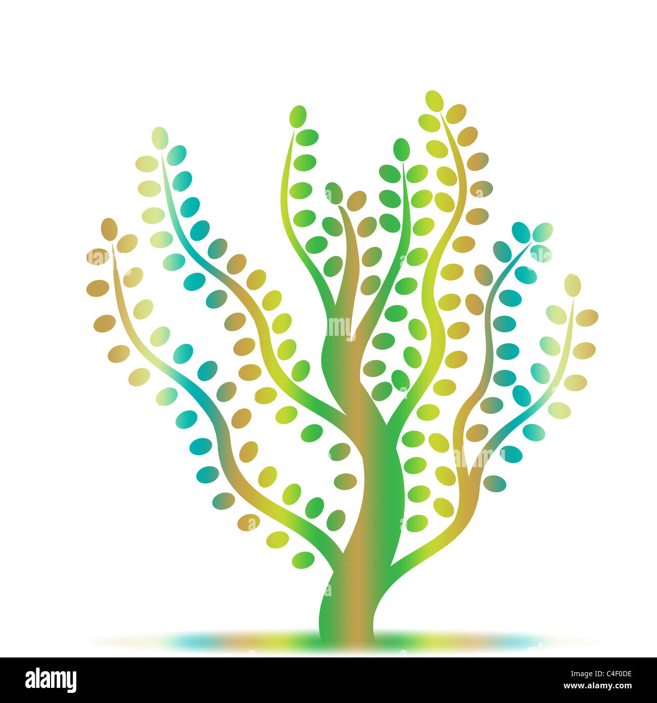 Colorful abstract art tree on white background Stock Photo: 37209018 ...