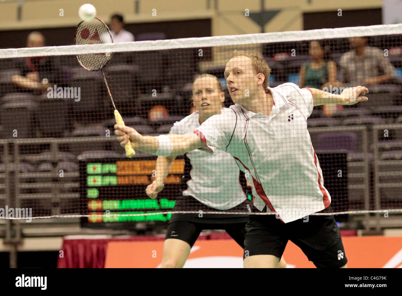 Thomas Laybourn and Kamilla Rytter Juhl of Denmark during the