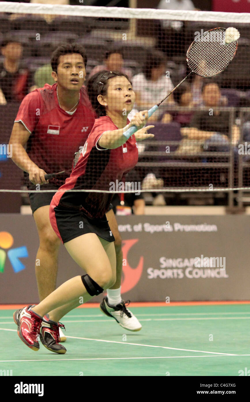 Debby Susanto and Muhammad Rijal of Indonesia during the Mixed