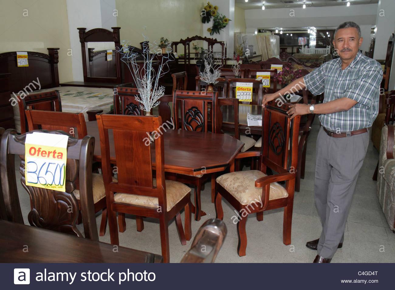 Awesome Santo Domingo Dominican Republic Ciudad Colonia Mercado Modela Market  Furniture Store Business Dining Room Set Suite Table Chair