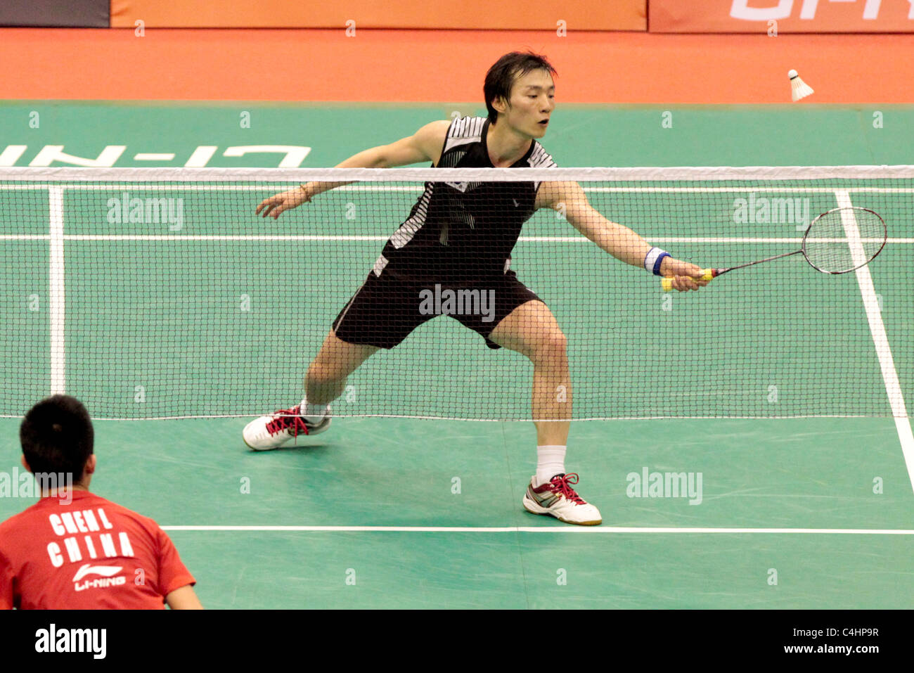 Lee Hyun Il of Korea during his Men s Singles Round 2 match Li