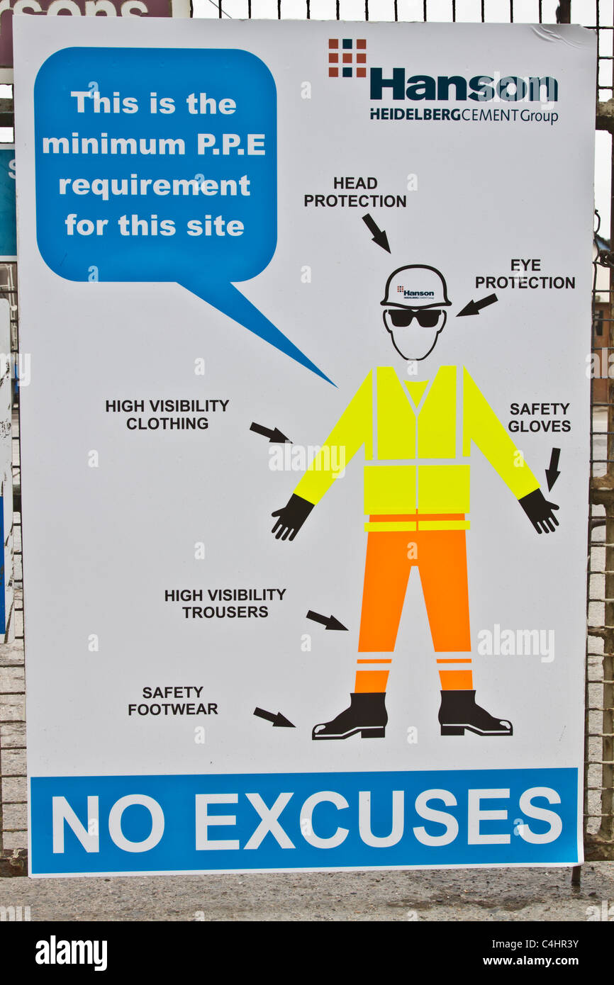 No Excuses Hanson Health Amp Safety Poster At Entrance To