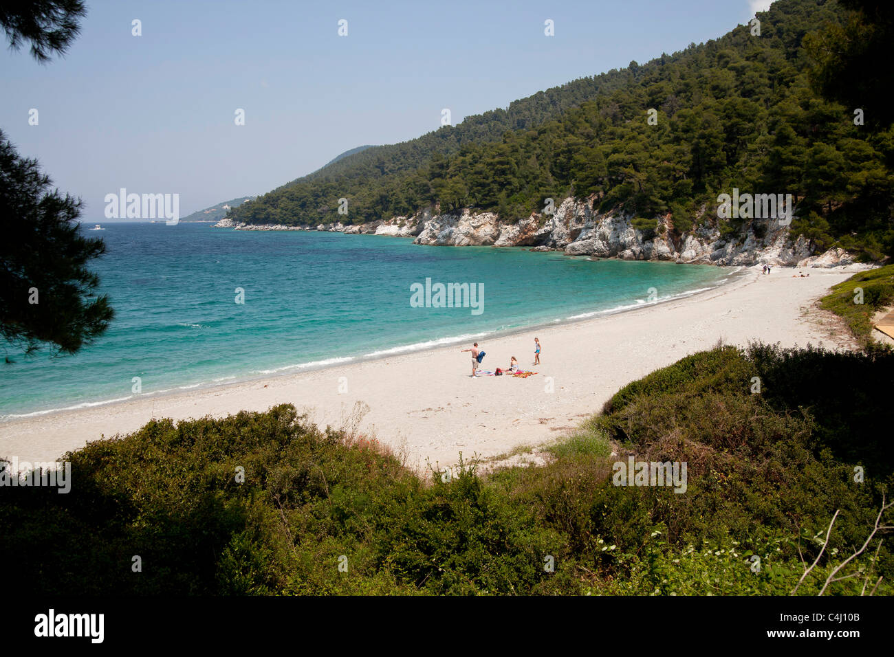 gialos kastani beach and bay mamma mia movie location on skopelos stock photo 37275291 alamy. Black Bedroom Furniture Sets. Home Design Ideas