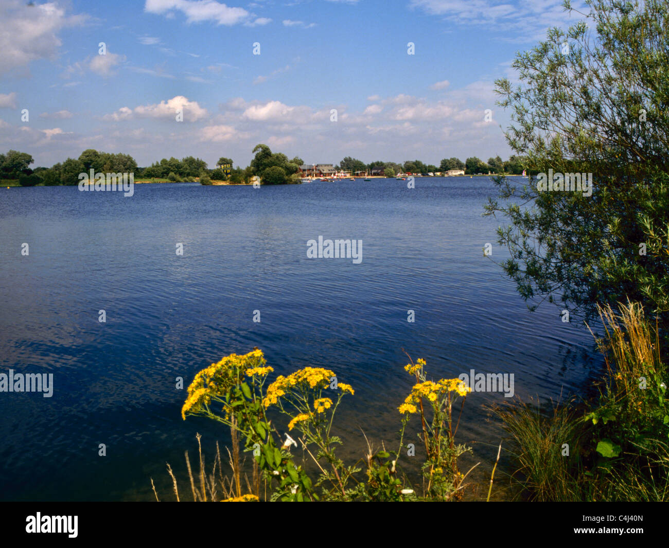 A Lake At The Cotswold Water Park Near Cirencester Gloucestershire UK