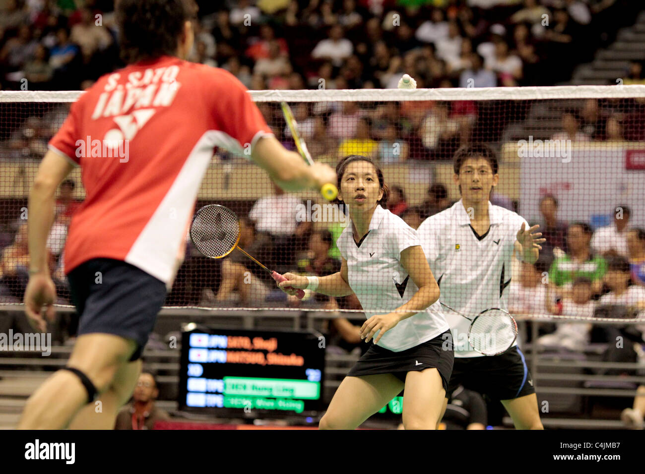 Cheng Wen Hsing and Chen Hung Ling of Chinese Taipei in the Mixed