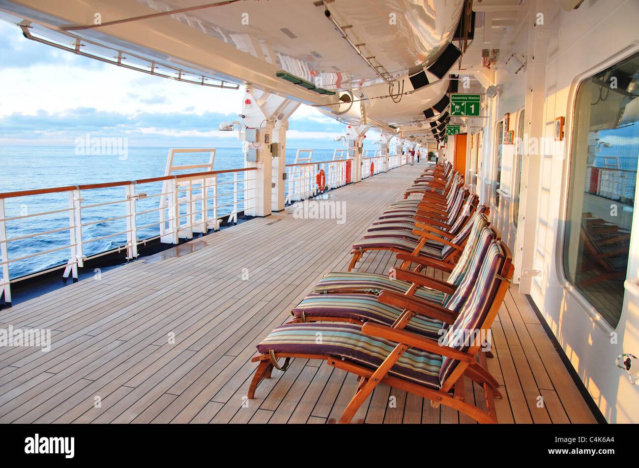 Deck At Sunset MS Eurodam Cruise Ship North Sea Northern Europe - Eurodam cruise ship