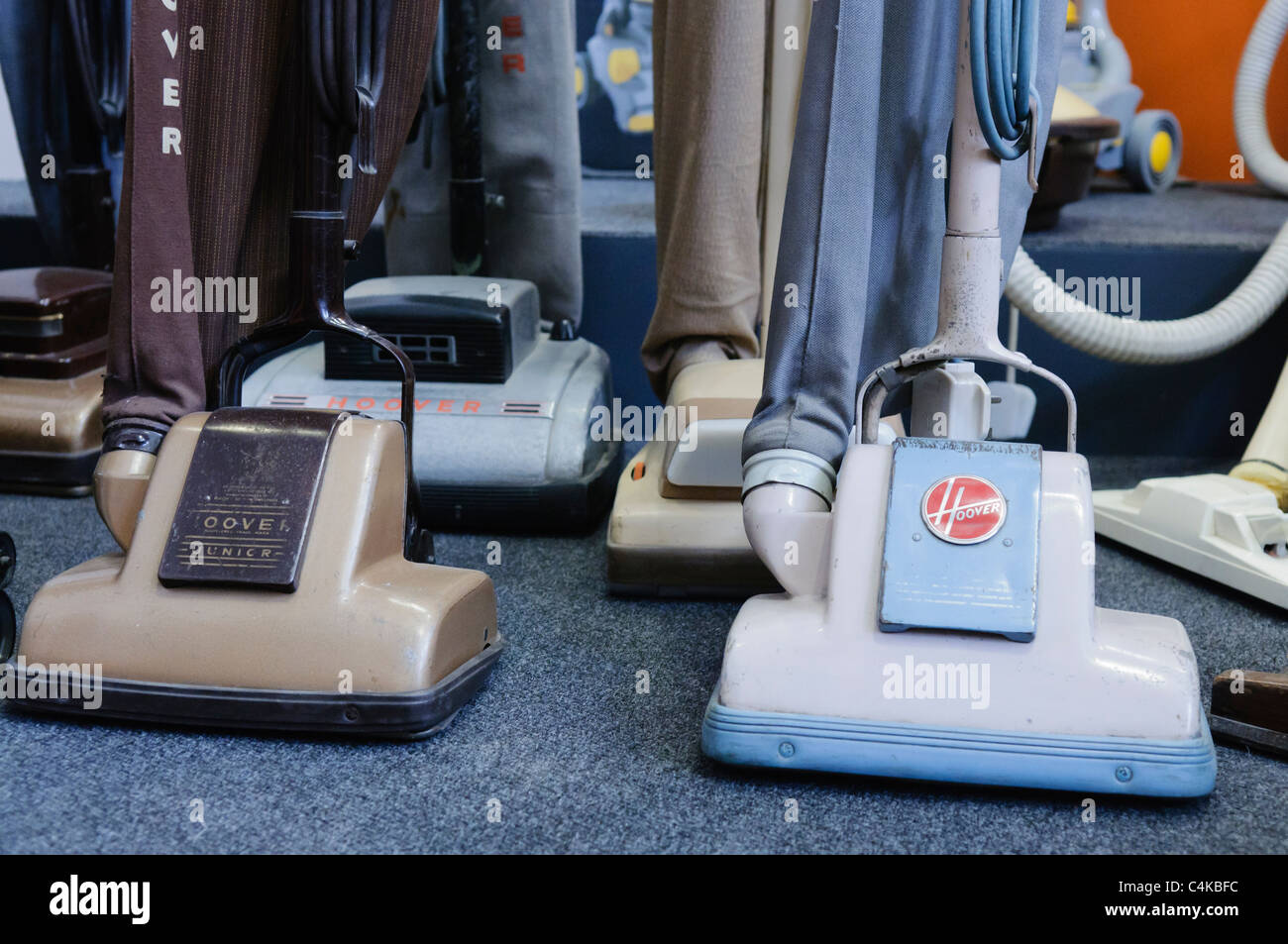 Collection Of Old Vacuum Cleaners From The 60s 70s And