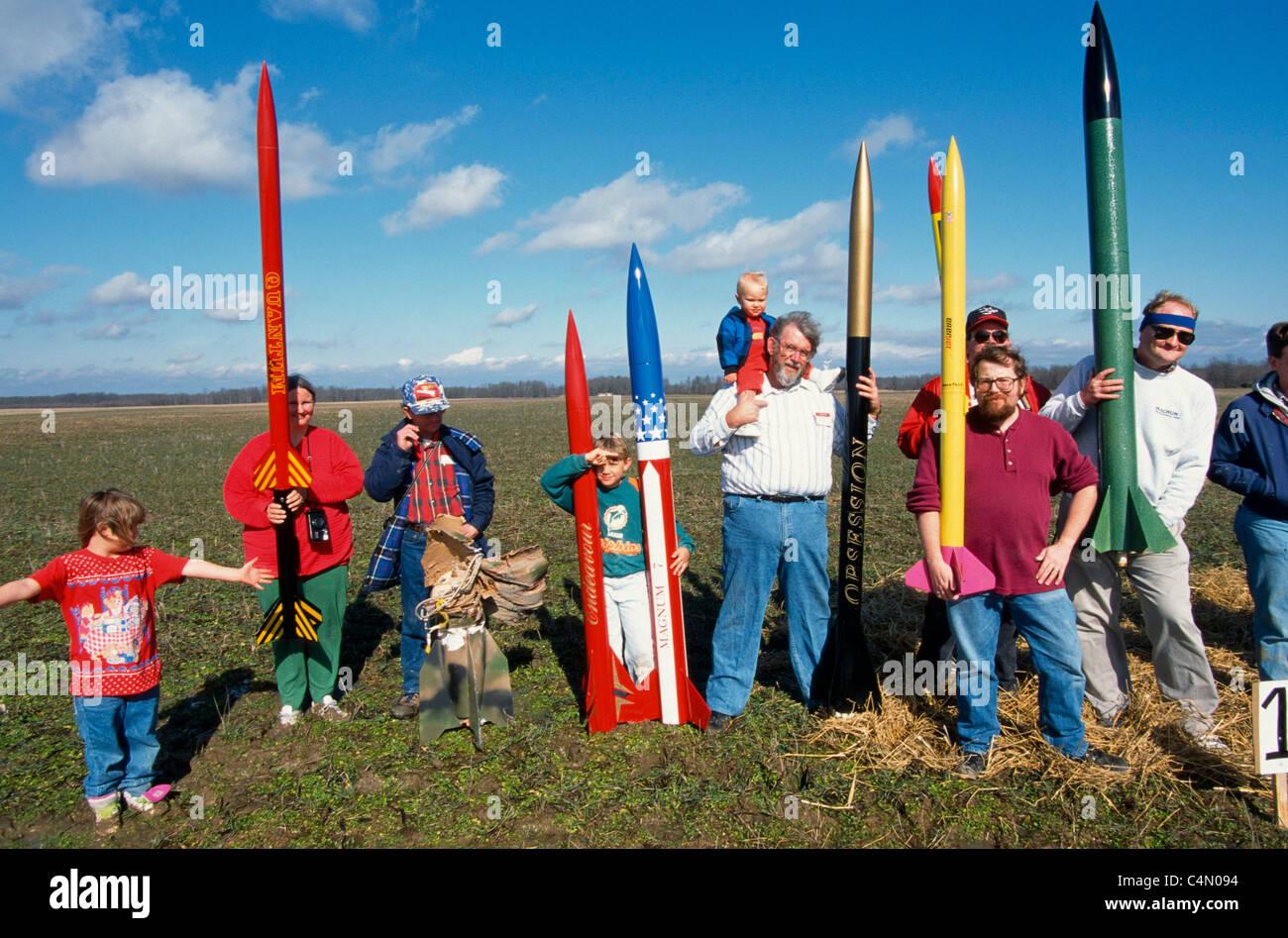 Amateur rocket launch should