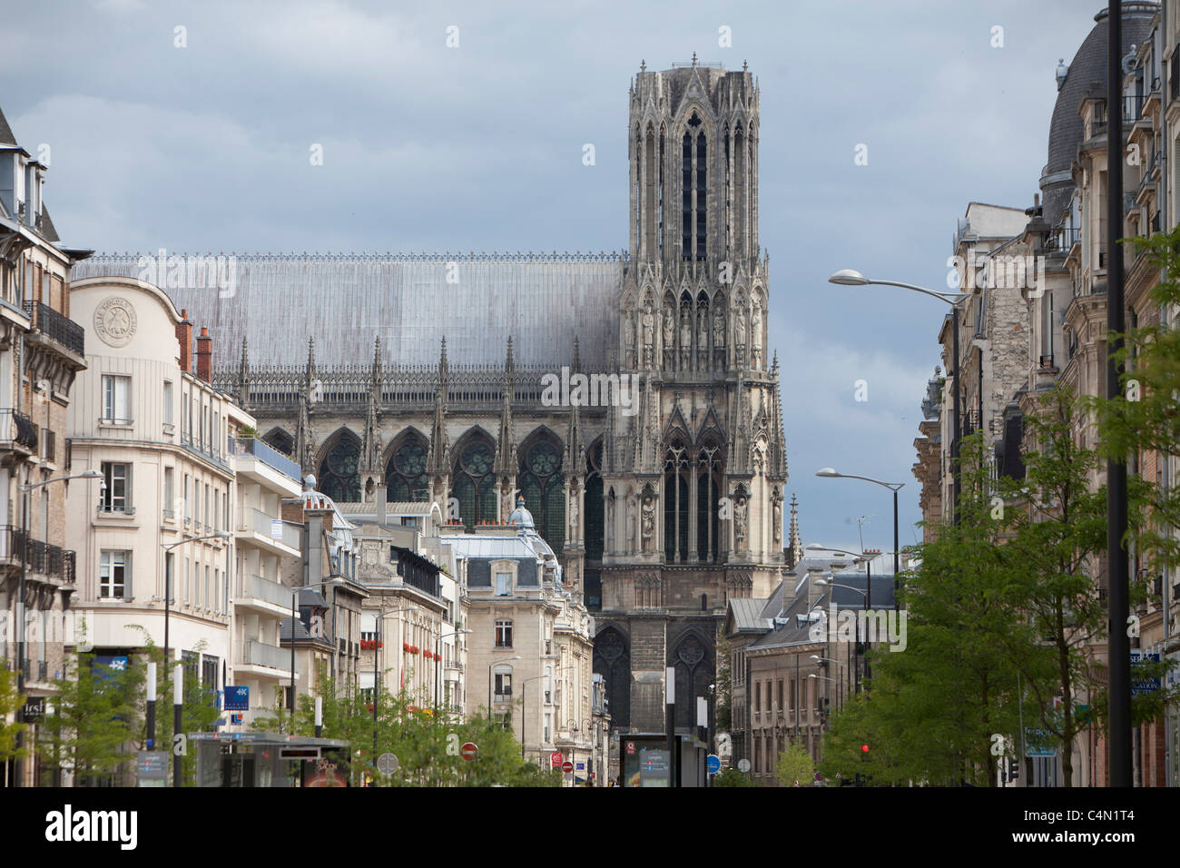 France Reims Cathedral City Buildings Urban Gothic Church Art Monument Tower Village Ancient Notre Dame Catholic