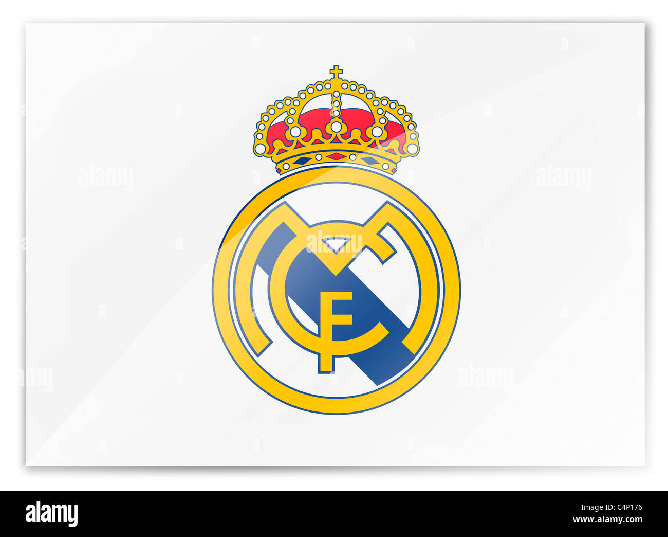 Real madrid cf logo symbol flag stock photo royalty free image real madrid cf logo symbol flag voltagebd Images