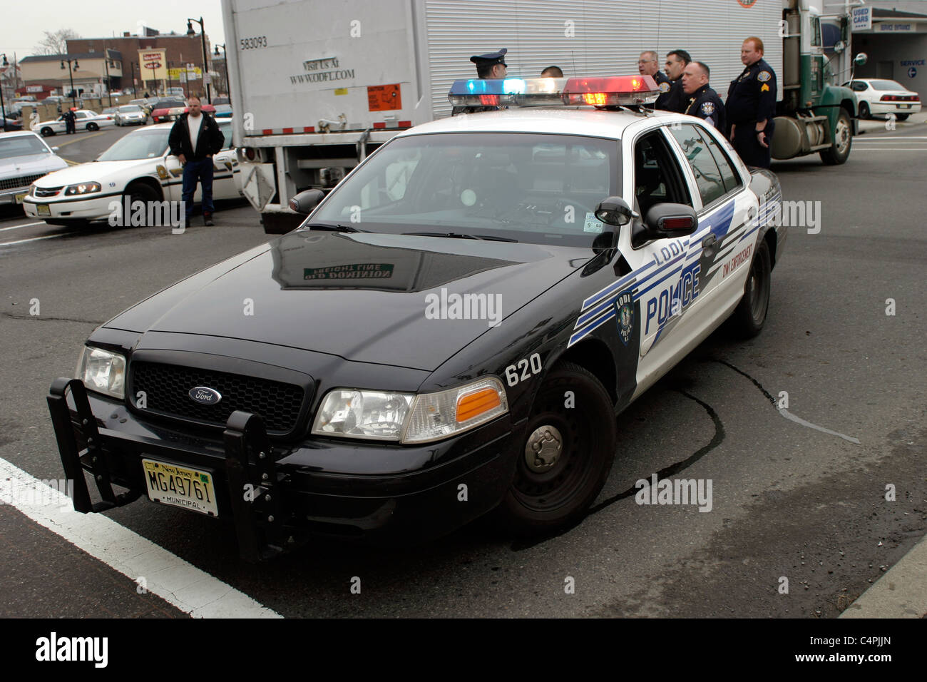 Ford crown victoria patrol car lodi police department new jersey stock image