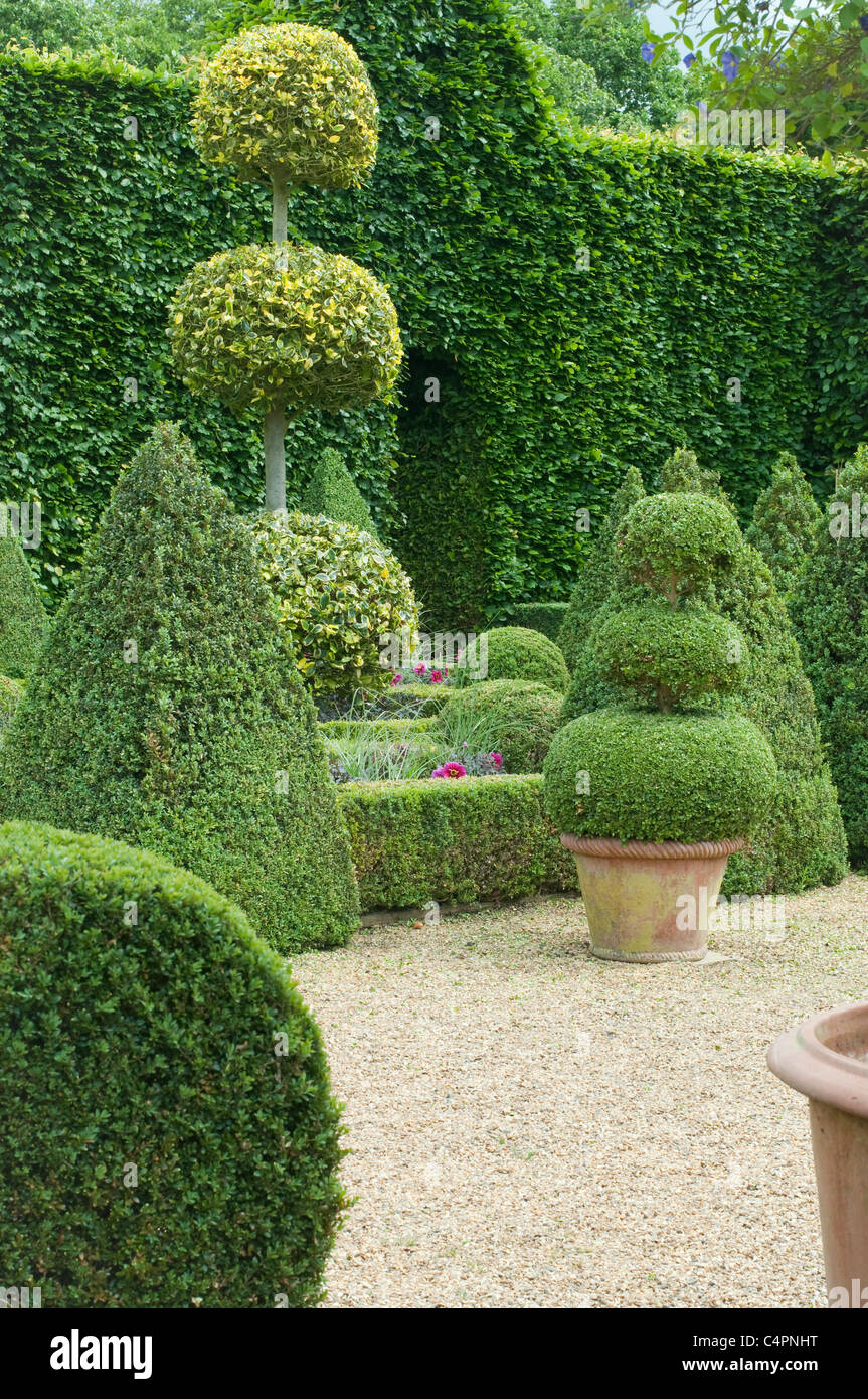 English Boxwoods Garden Design, Norfolk, England