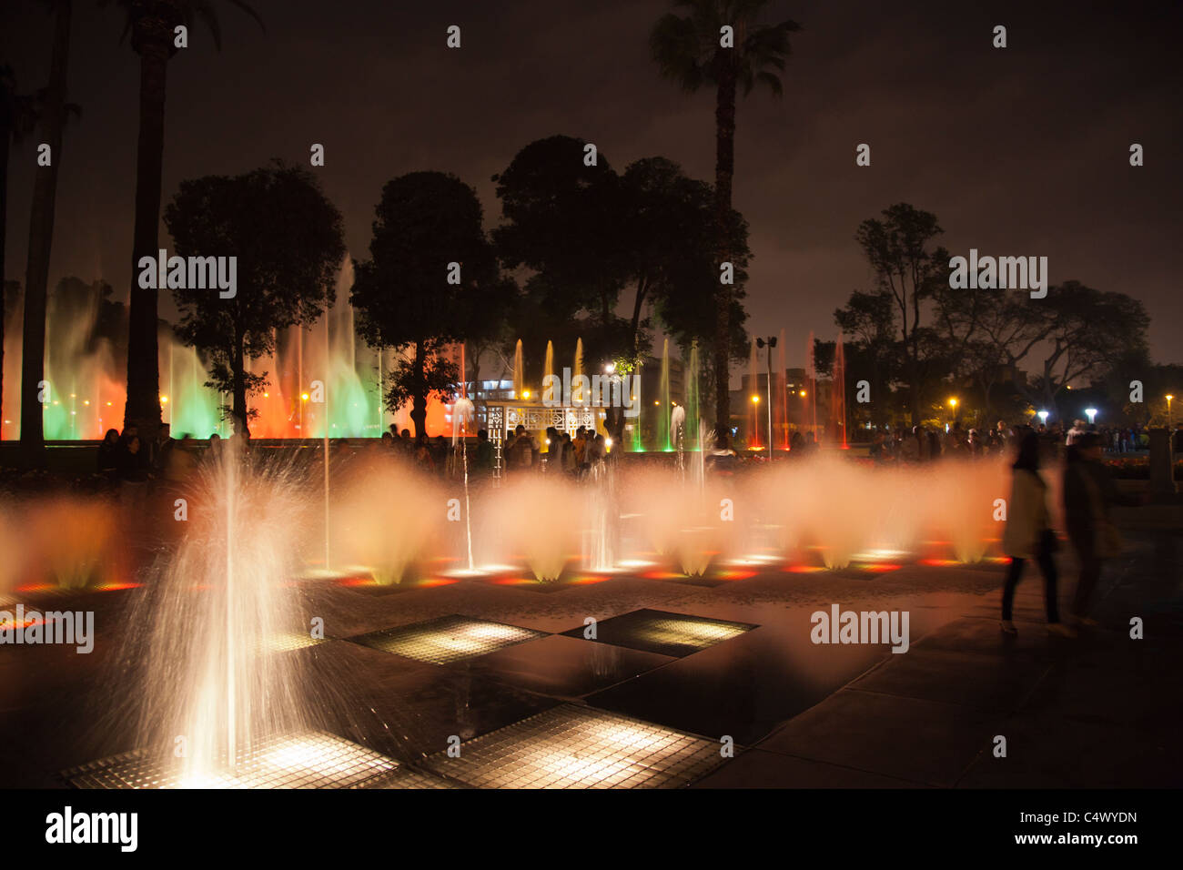 Water fountains lima - Stock Photo The Fountains And Light Show At Parque De La Reserva Lima Peru
