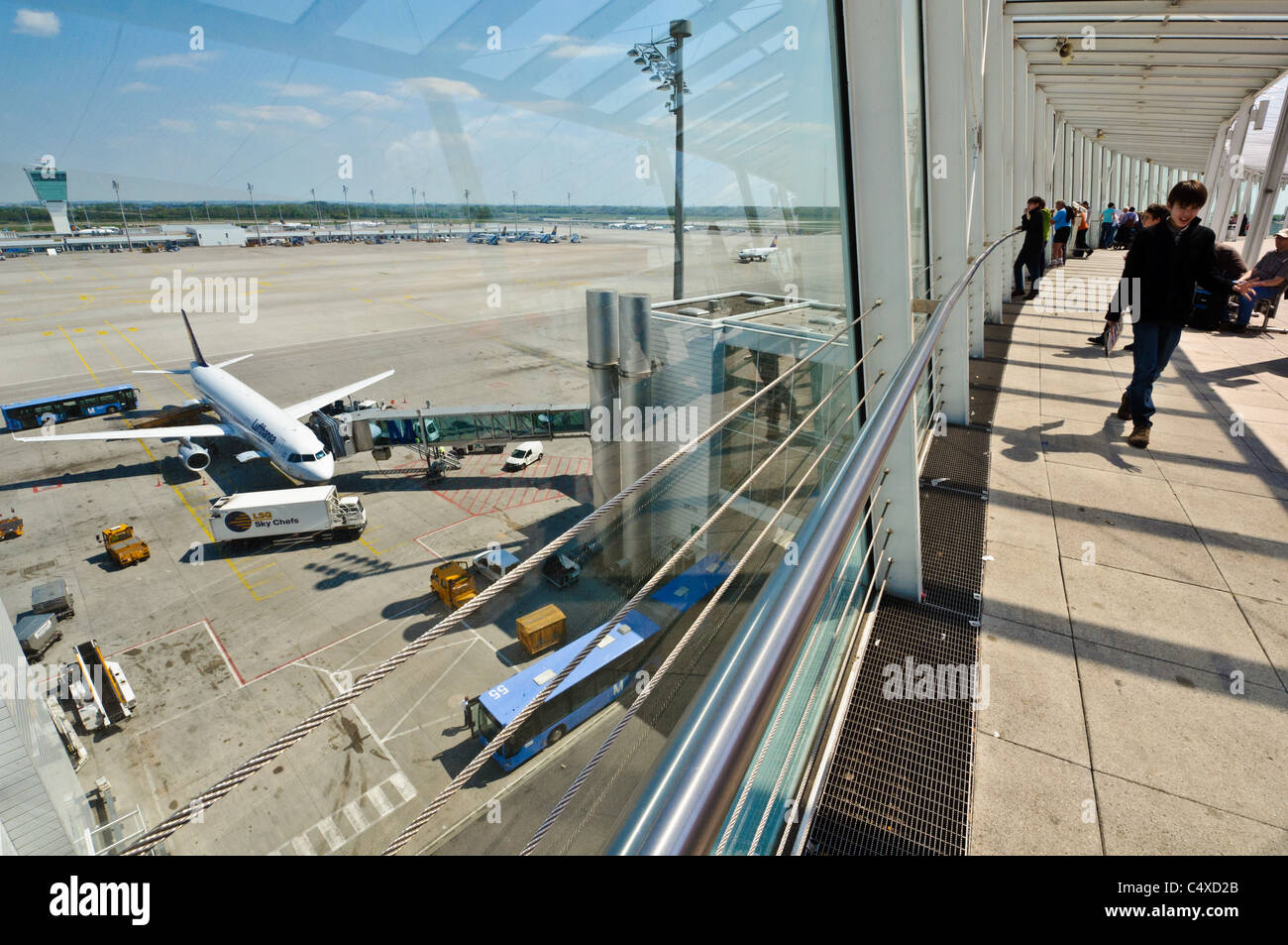 viewing terrace at munich airport munich germany stock photo royalty free image 37460371. Black Bedroom Furniture Sets. Home Design Ideas