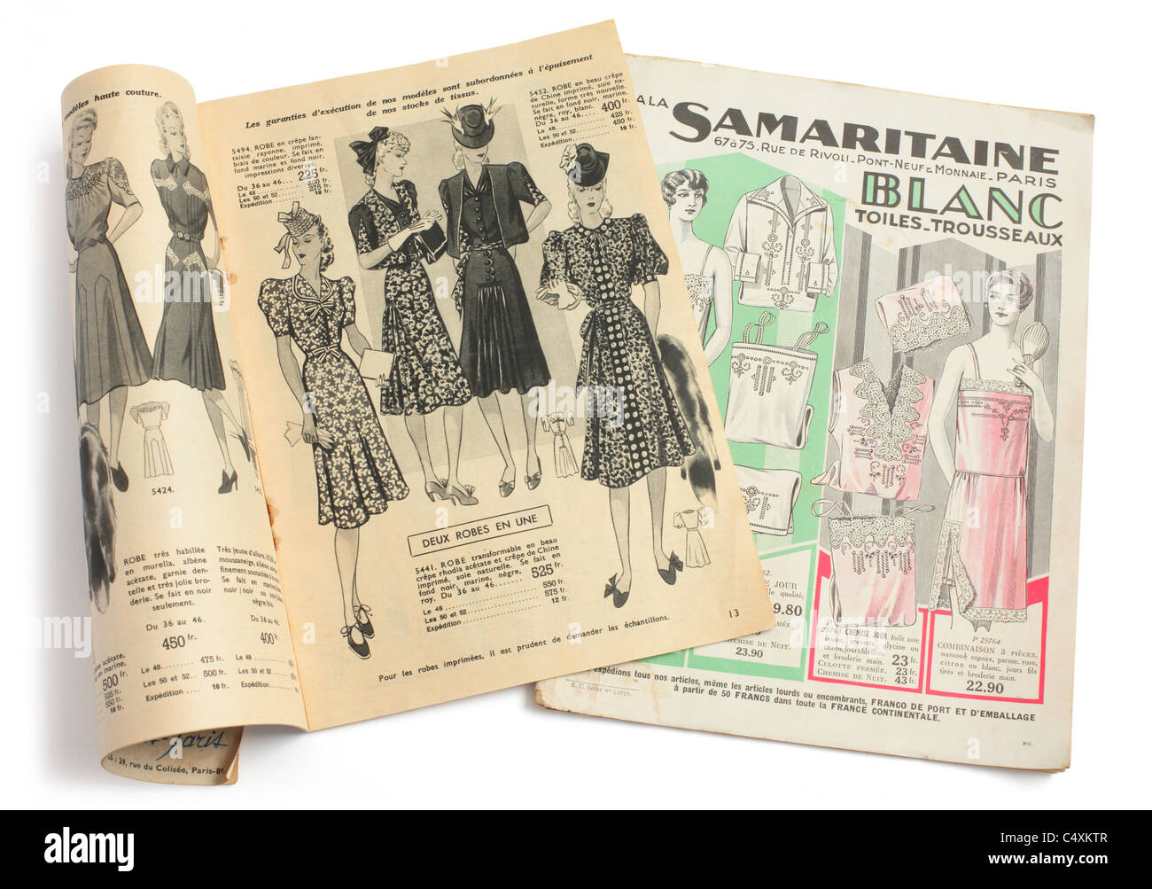 stock photo vintage prewar french fashion mailorder catalogues
