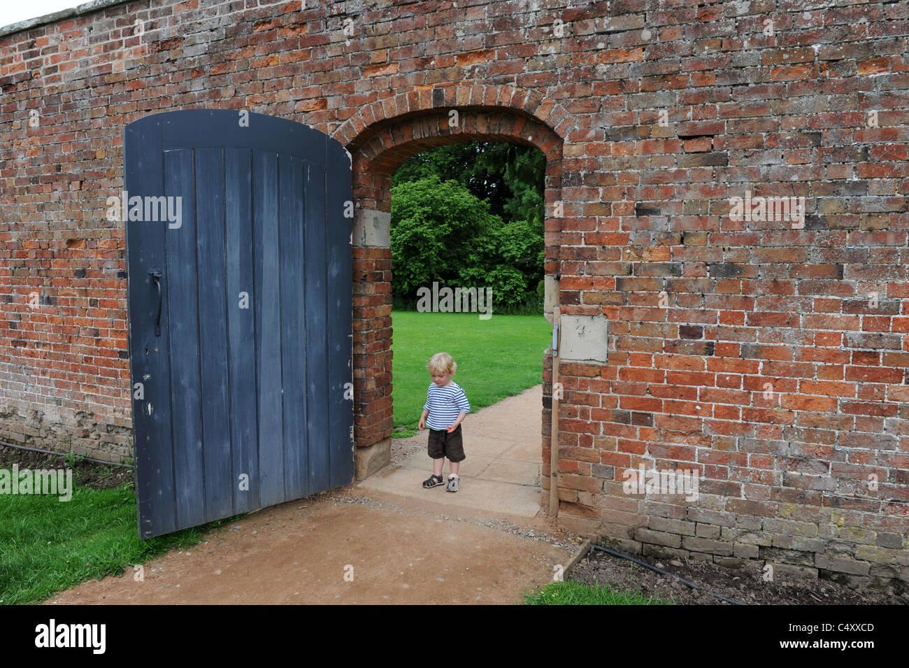 Toddler Walking Through Garden Gate Left Wide Open Uk