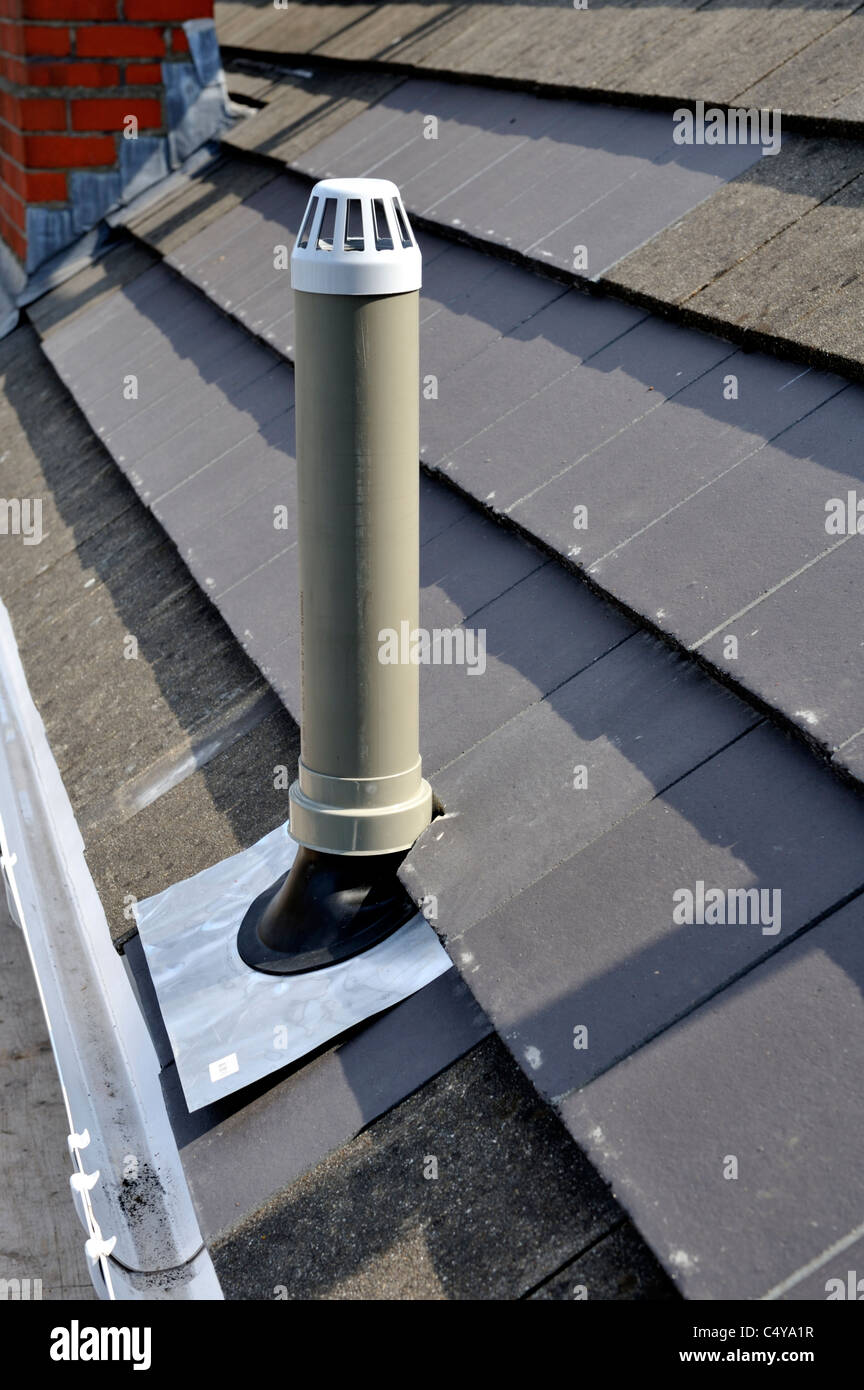 Plastic Soil Vent Stack At Roof Stock Photo Royalty Free
