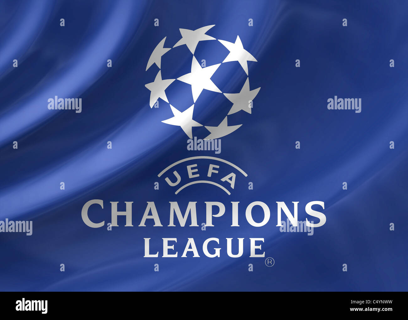 champions league uefa logo flag symbol icon stock photo
