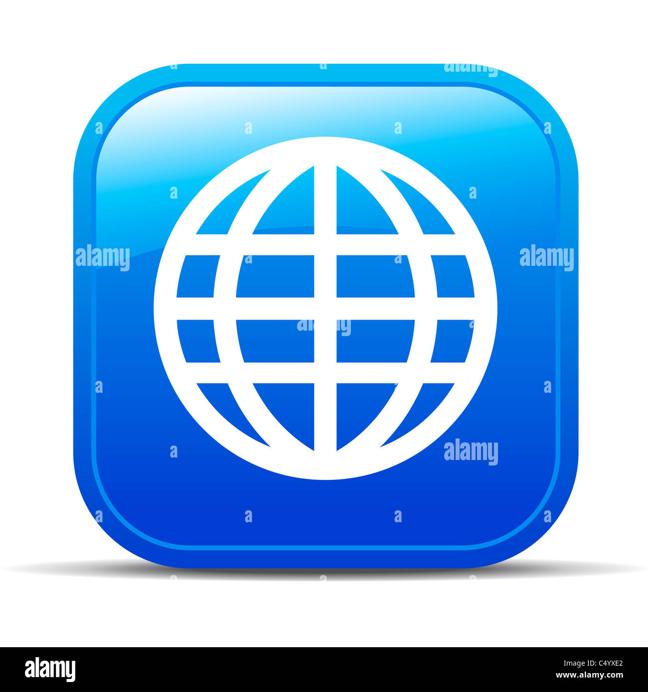 Global Internet button Icon App Apps World blog Stock ...