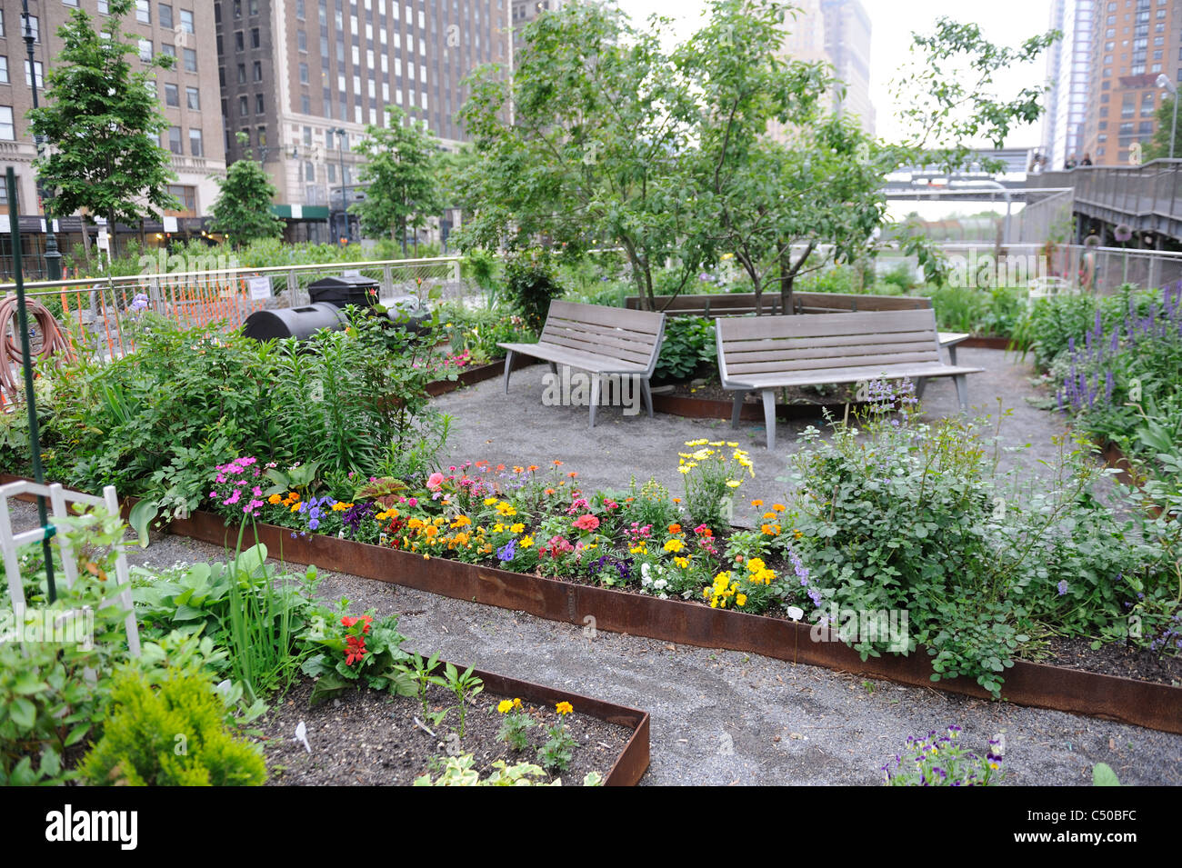 The Liberty Community Garden In Battery Park City Has