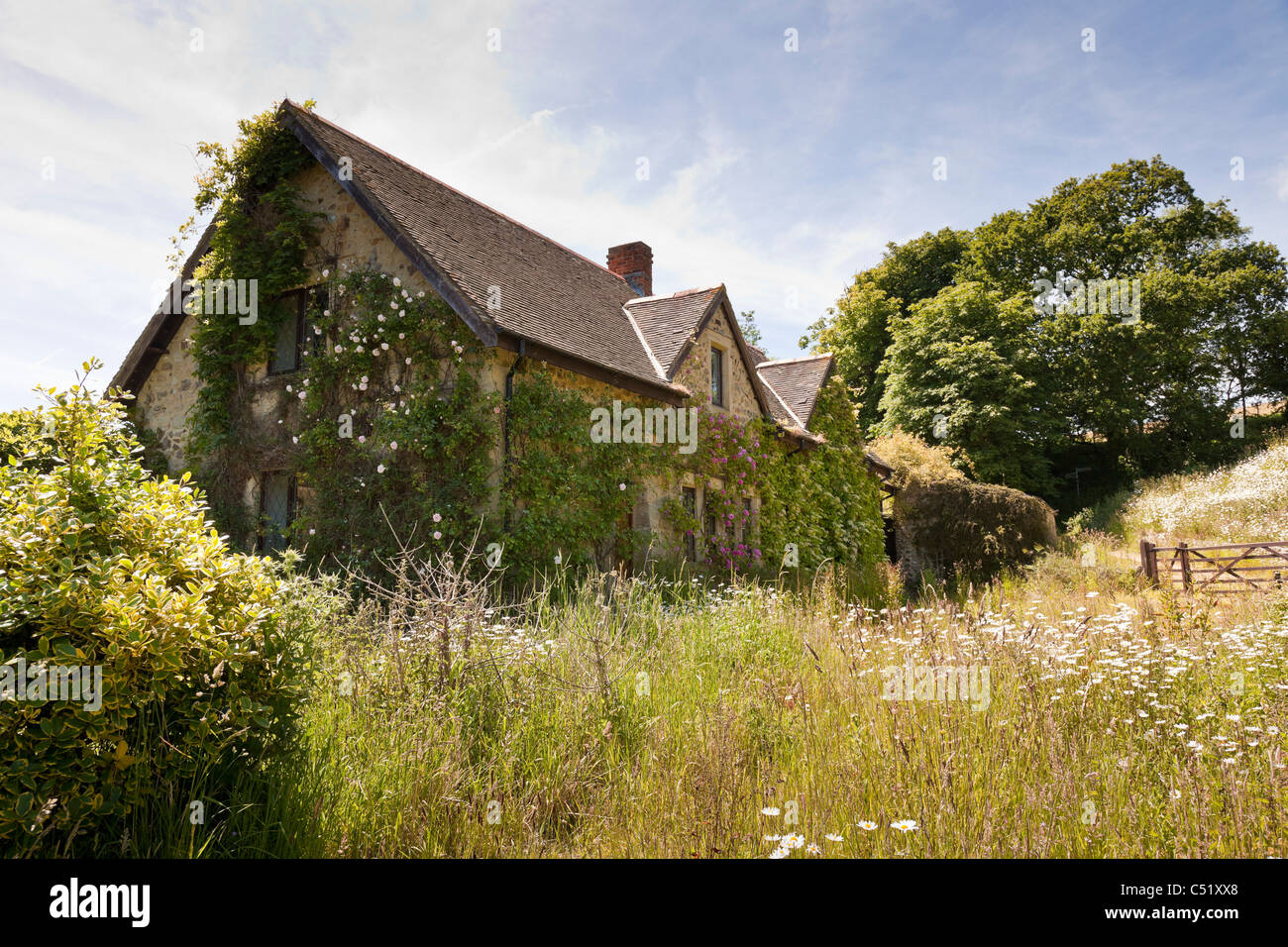 Old Abandoned Stone Cottage Near Whitwell Isle Of Wight