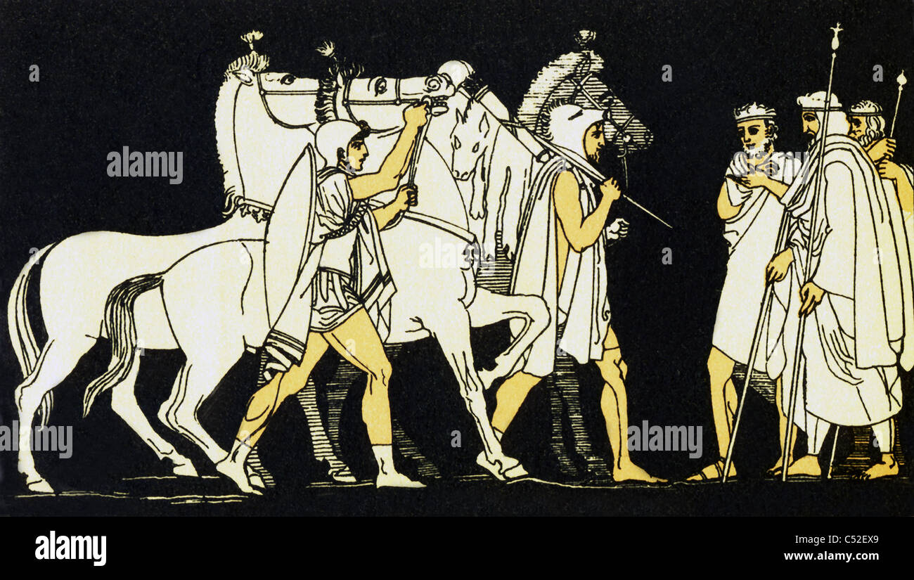 the trojan war between the greeks and the trojans in homers the iliad Achilles willingly joined the greeks in the trojan war,  aeneid had a plot more like the iliad, during the trojan war  declared war on the trojans,.