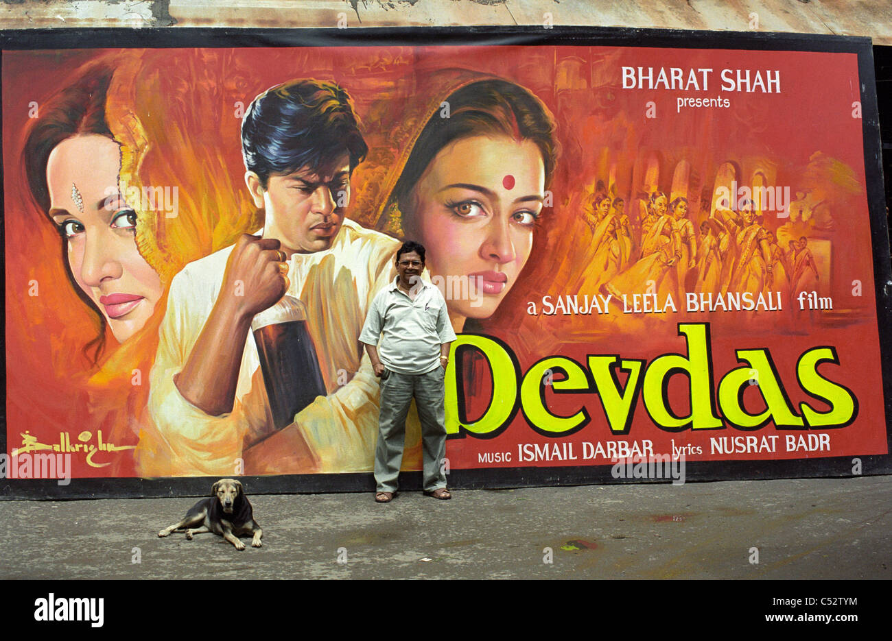 india mumbai painting of bollywood movie posters for