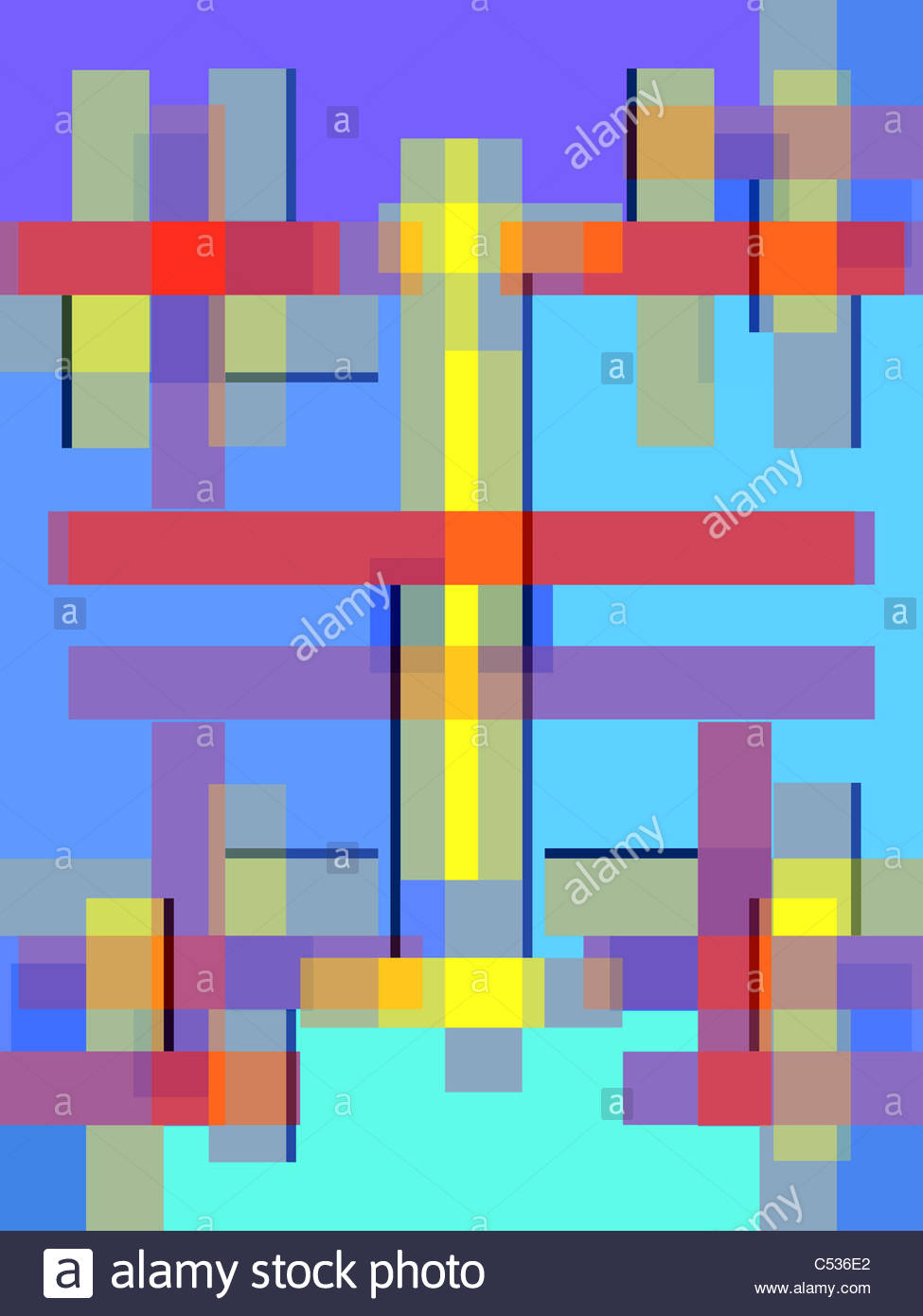 geometric composition using only squares and rectangles in shades