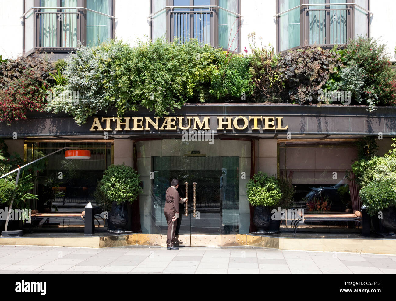 athenaeum hotel piccadilly london stock photo royalty. Black Bedroom Furniture Sets. Home Design Ideas
