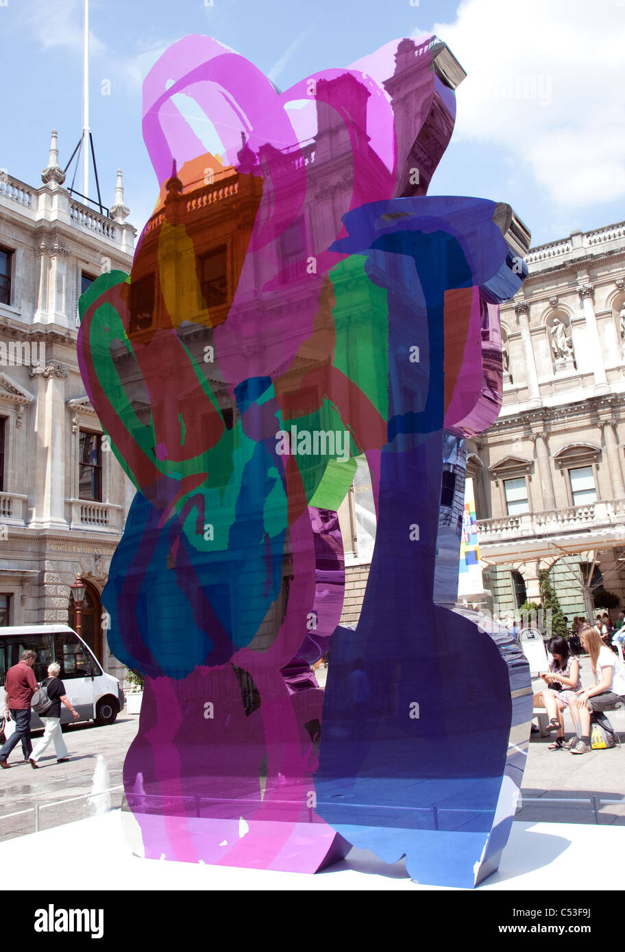 Coloring book by jeff koons - Coloring Book Sculpture By Jeff Koons At Royal Academy Of Arts London