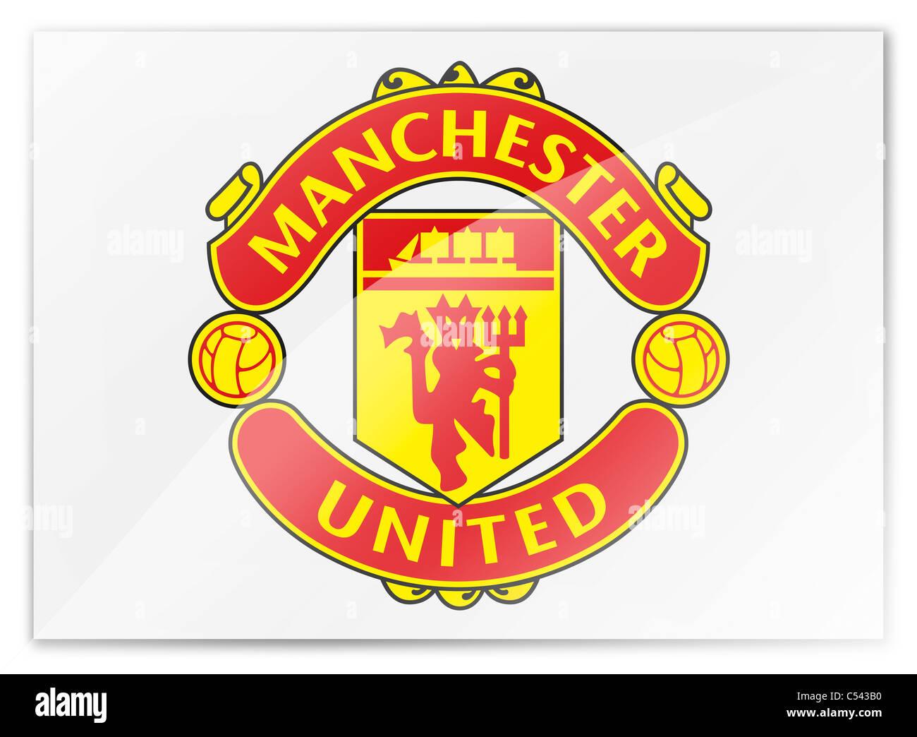 Manchester united flag logo symbol icon stock photo 37584484 alamy manchester united flag logo symbol icon voltagebd Images