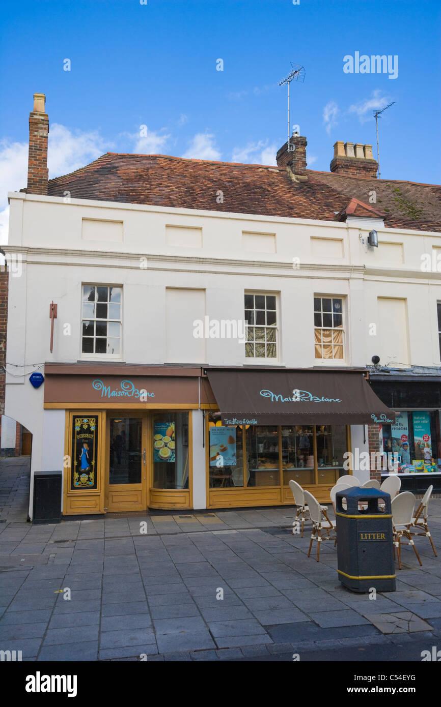 Maison blanc cafe high street winchester hampshire england uk