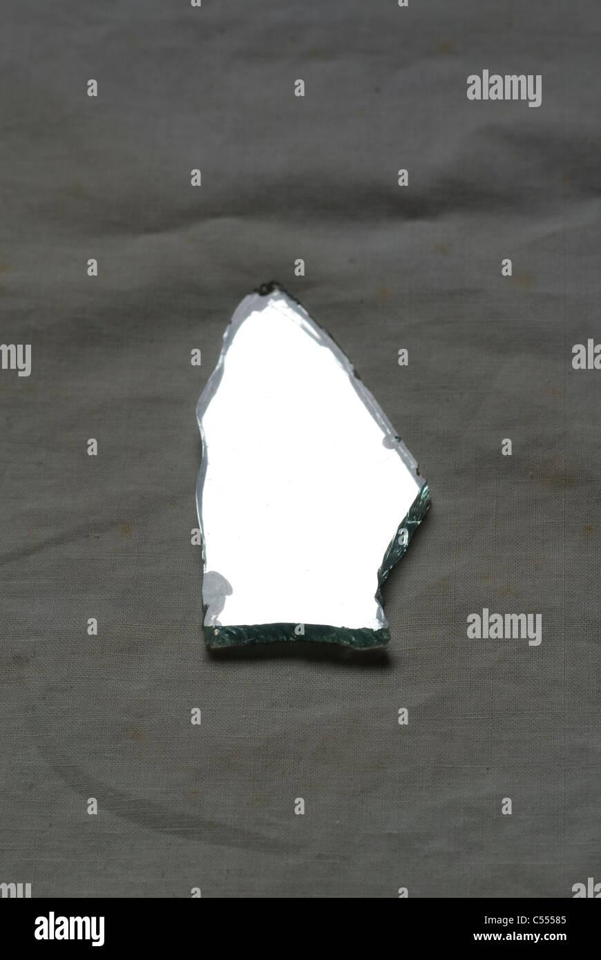 Piece of a broken mirror