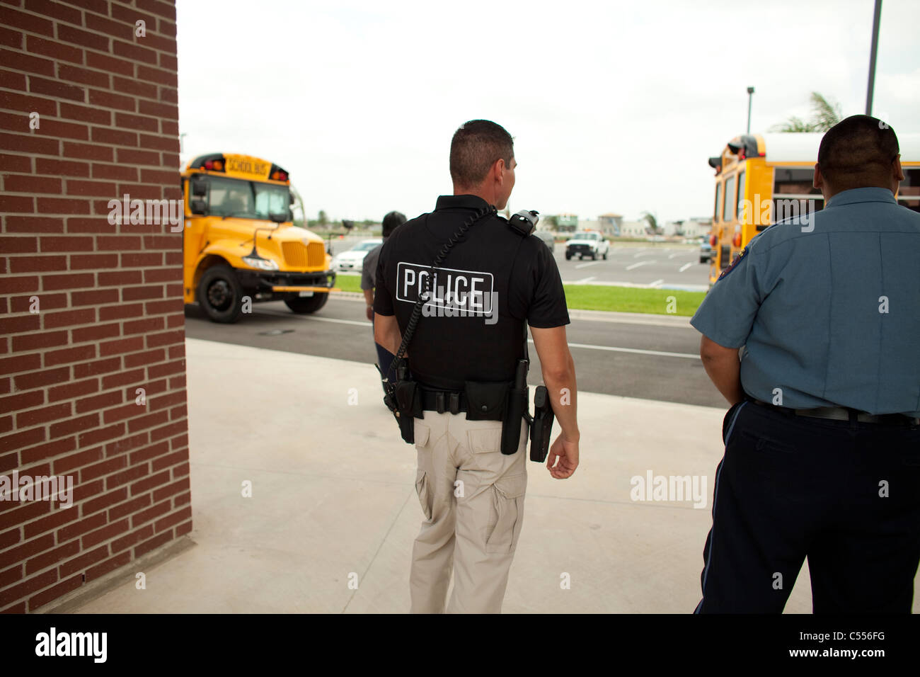 policeman at high in pharr texas wears duty belt with