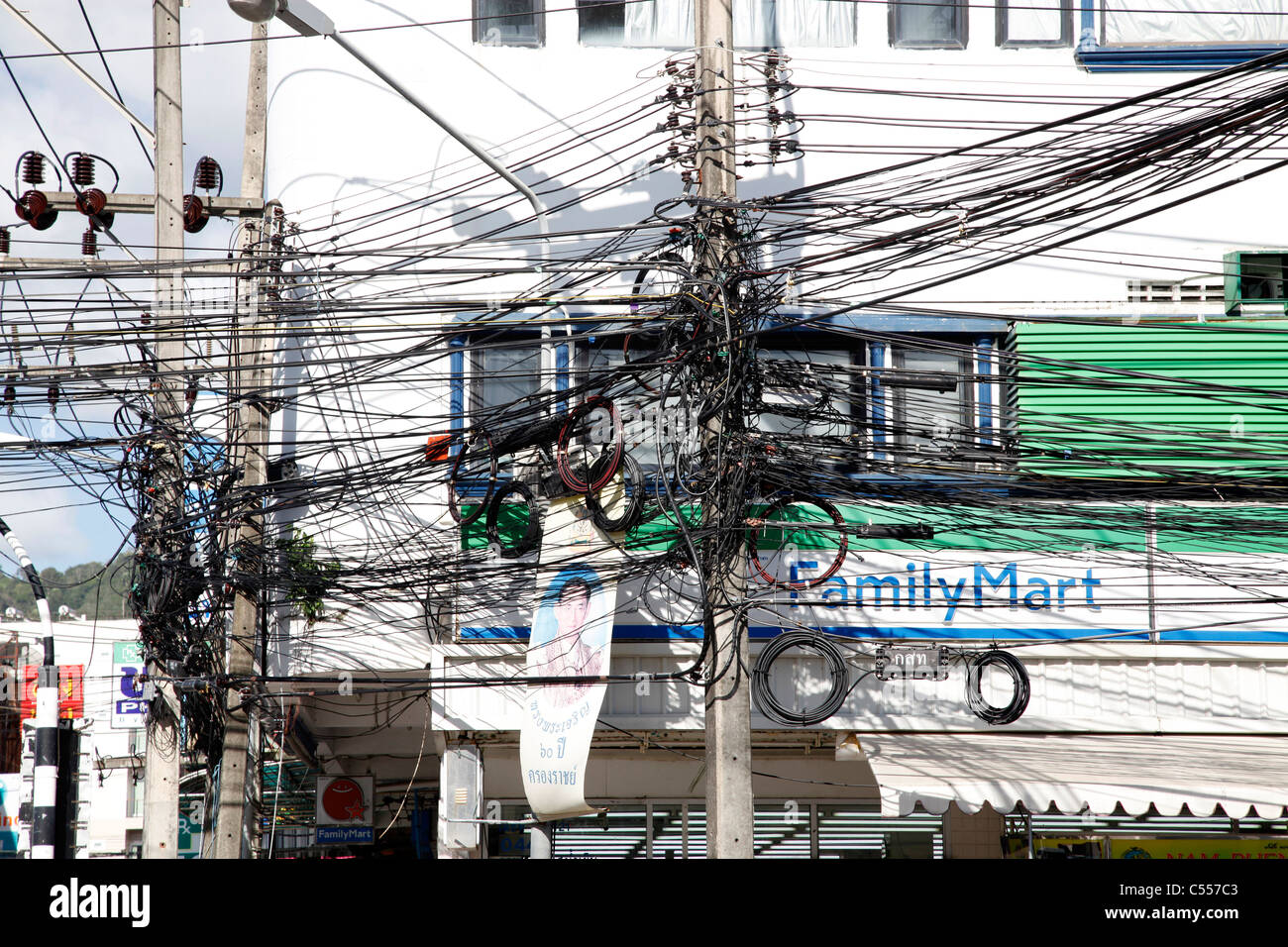 telegraph poles and dangerous tangled mass of electricity Wells Fargo Wiring Money Online Money Wiring Services