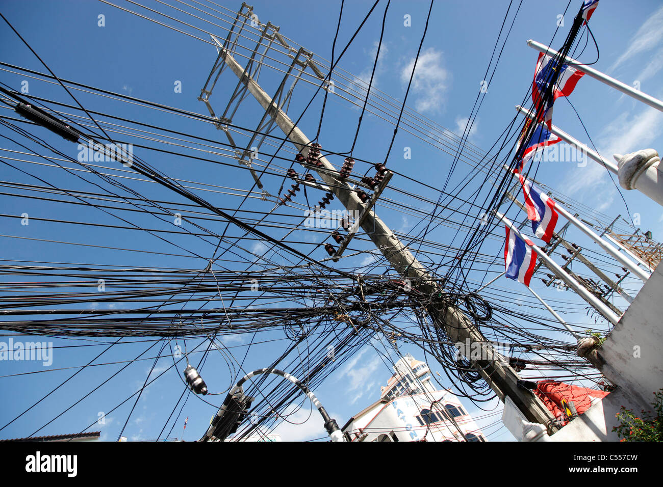 Telegraph poles and dangerous tangled mass of electricity ...