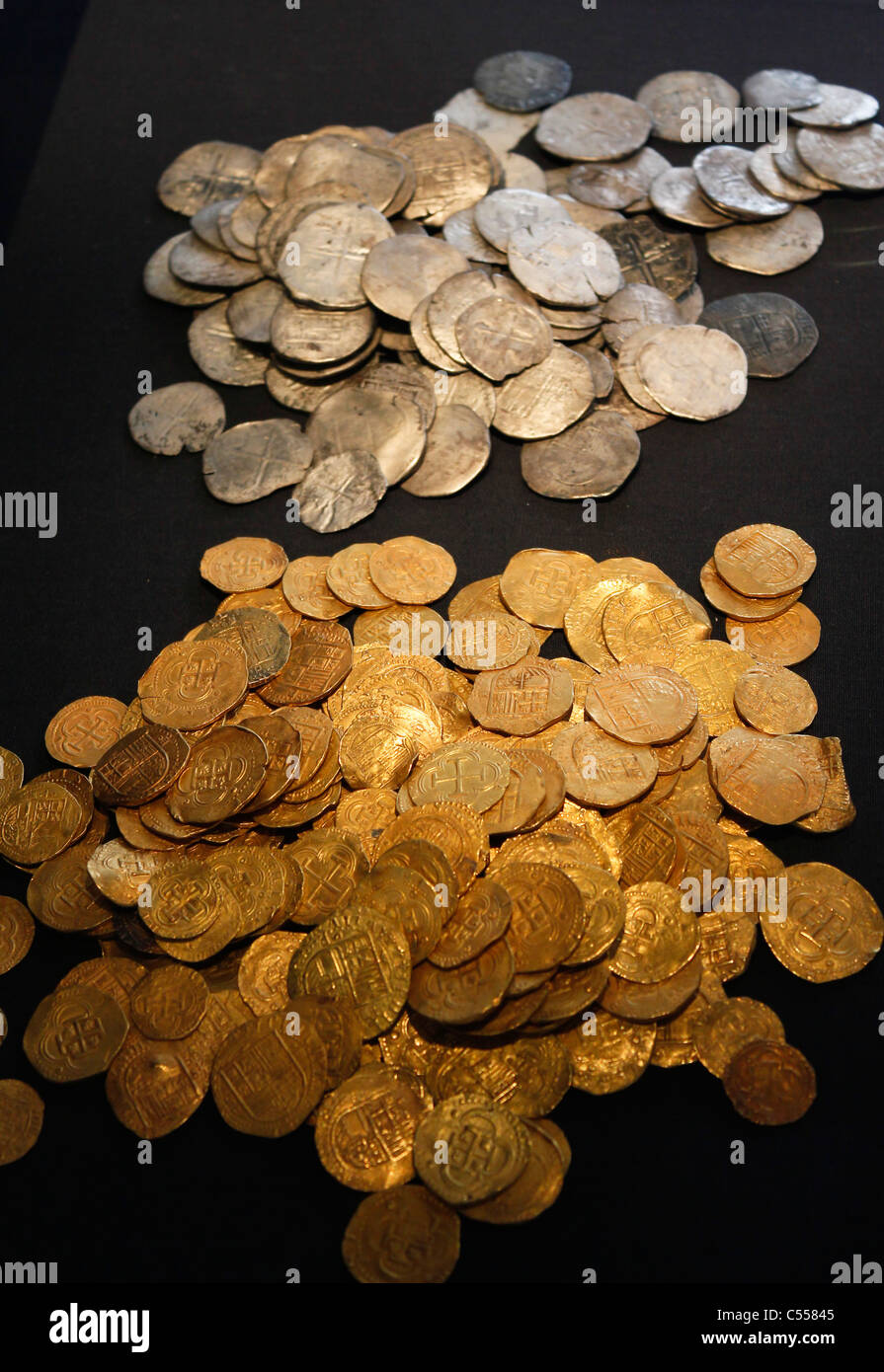 Gold And Silver Coins From The Wreck Of The Spanish Armada