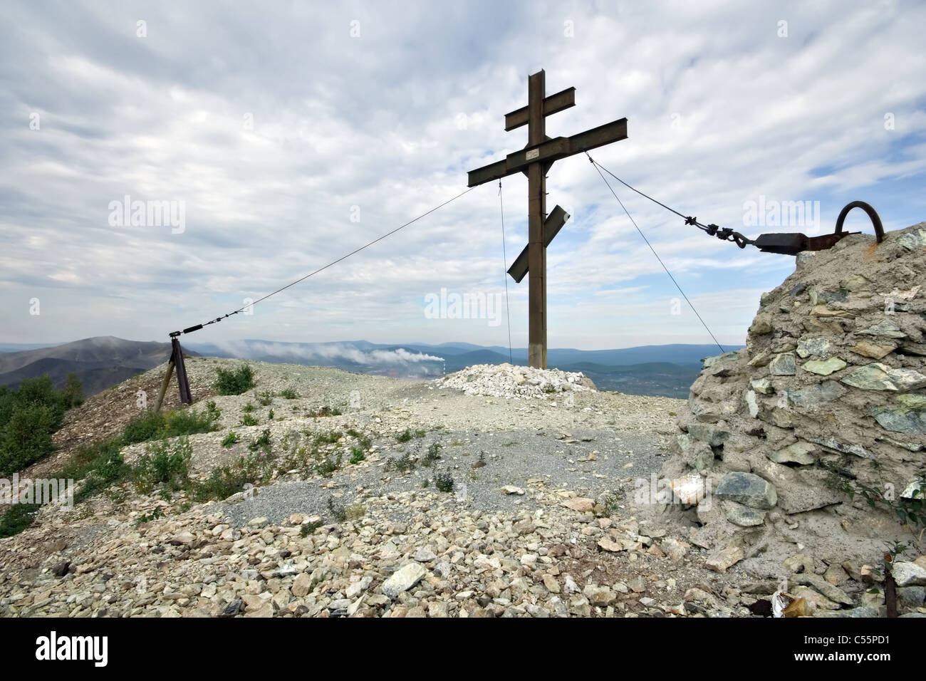 Orthodox cross dead ecological desert near the karabash copper dead ecological desert near the karabash copper smelting mill in south ural russia buycottarizona Image collections