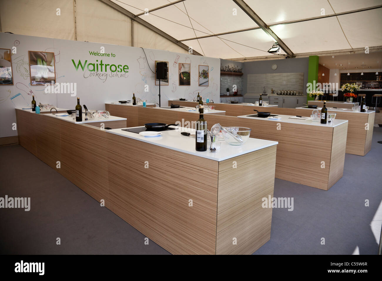 Waitrose Cookery School Marquee Between Classes At The Taste Of