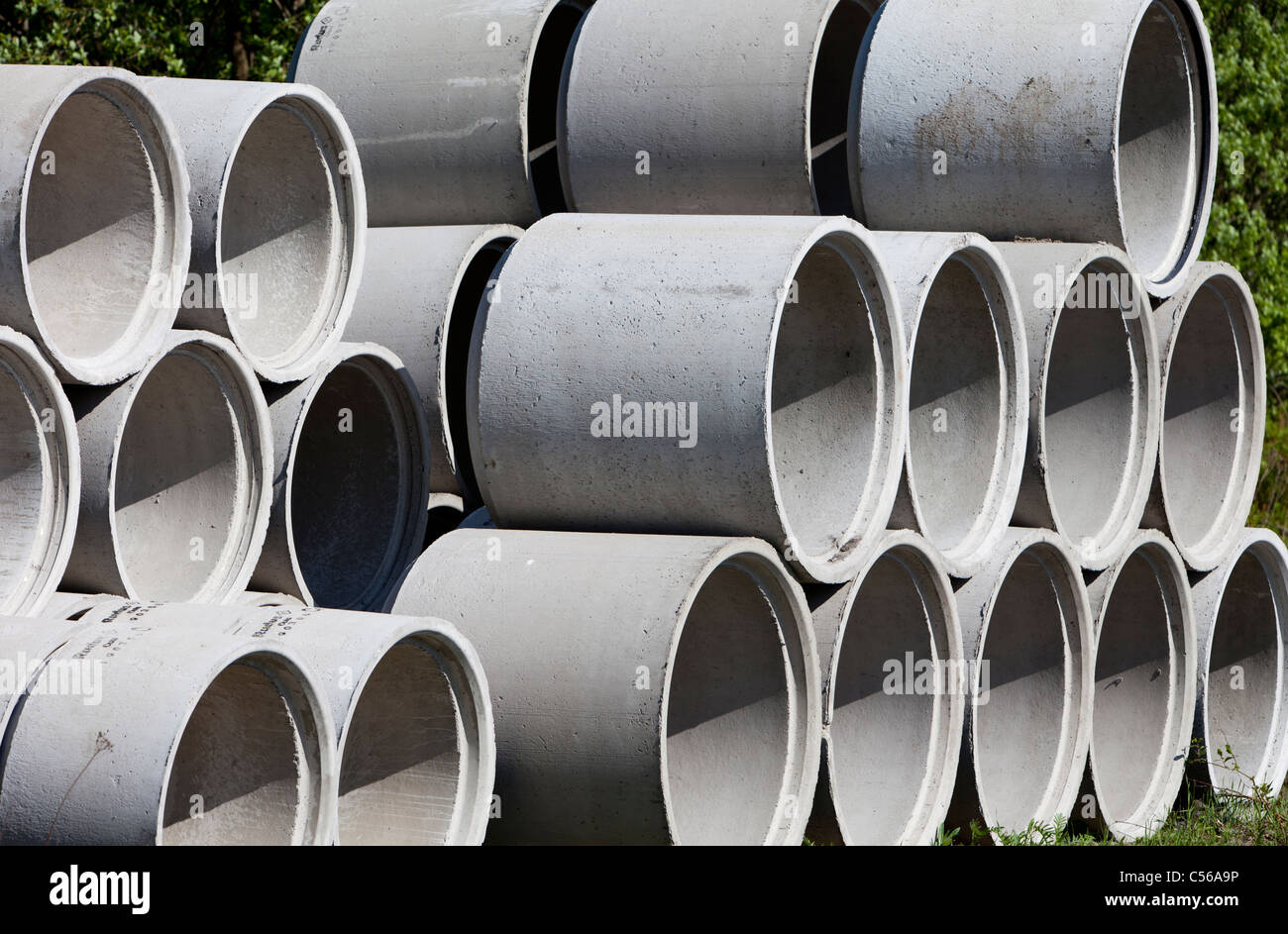 Concrete Well Rings Drainage Pipes Stock Photo Royalty