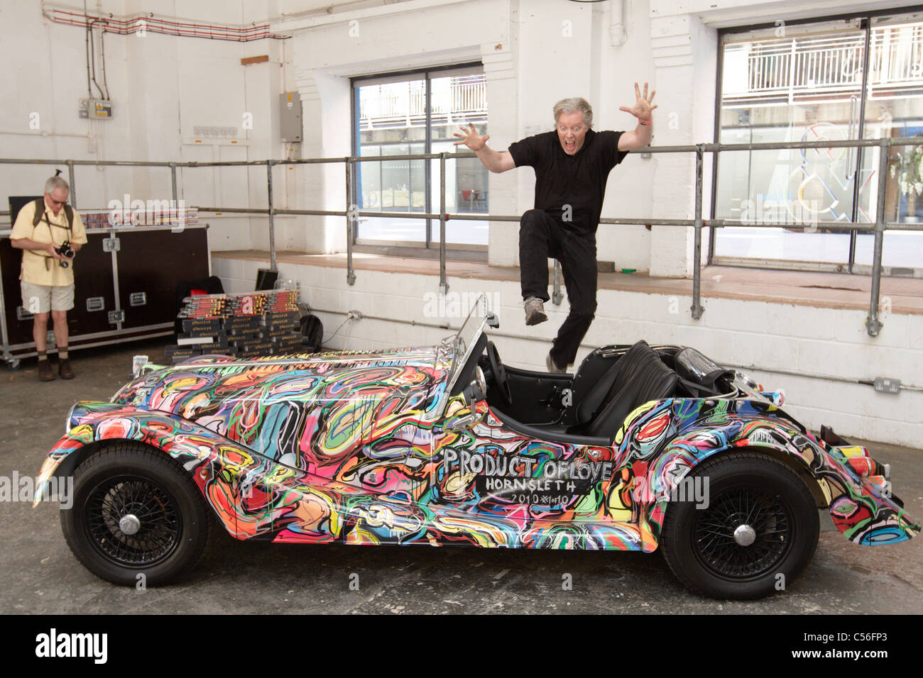 A Hand Painted Morgan Sports Car By Artist Kristain Von Hornsleth