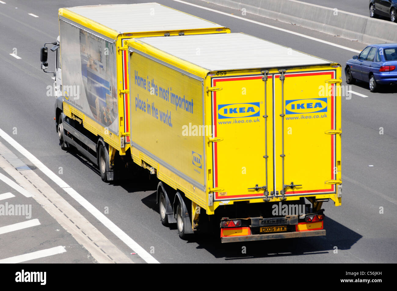 ikea delivery lorry and trailer stock photo royalty free image 37640389 alamy. Black Bedroom Furniture Sets. Home Design Ideas
