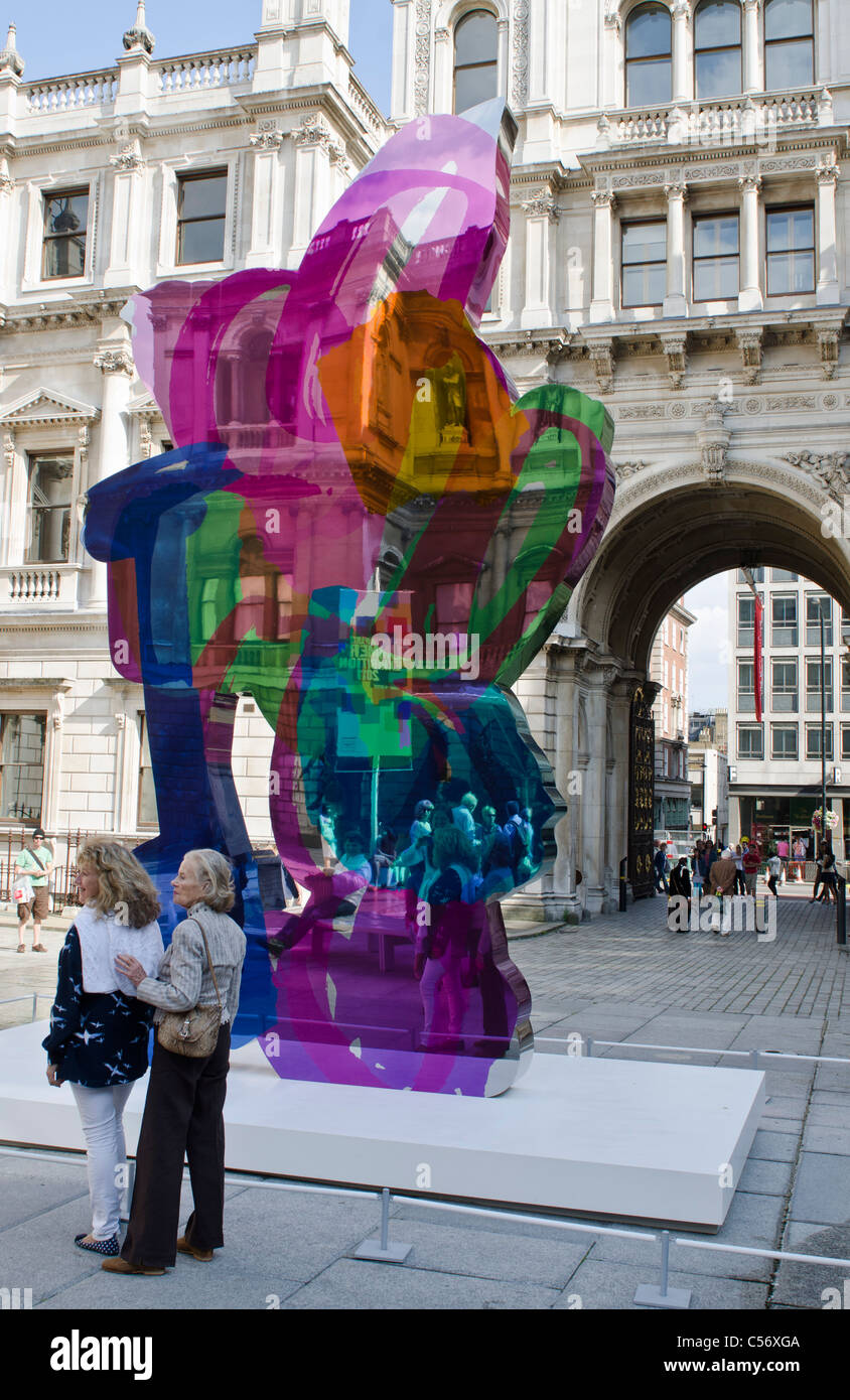 Coloring book by jeff koons - Jeff Koons Coloring Book Sculpture Courtyard The Royal Academy Of Arts Summer Exhibition 2011 Banner London Uk