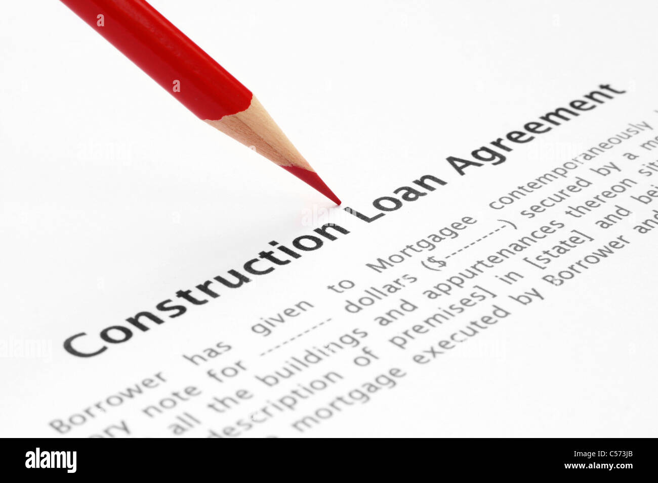 Construction loan agreement Photo Royalty Free Image – Construction Loan Agreement